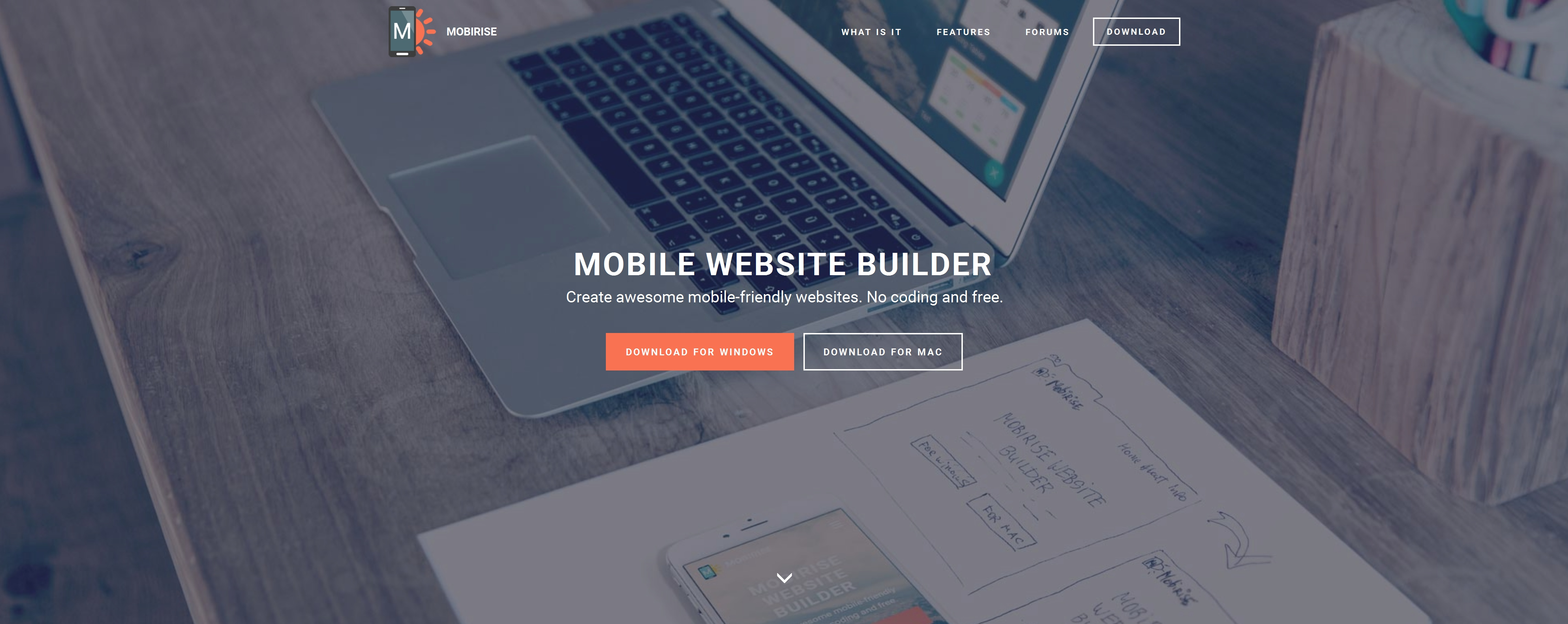 Drag and Drop Mobile Website Generator