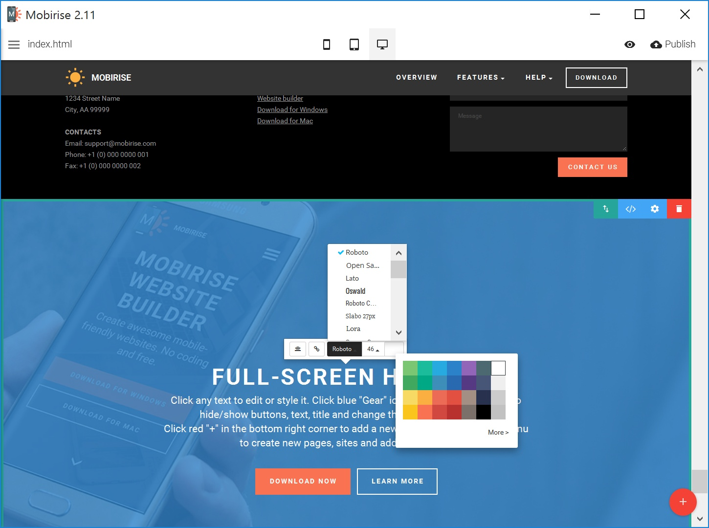 Best HTML5 Web Page  Creator Software