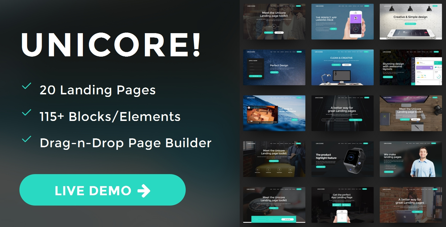 Custom Bootstrap Landing Page Theme