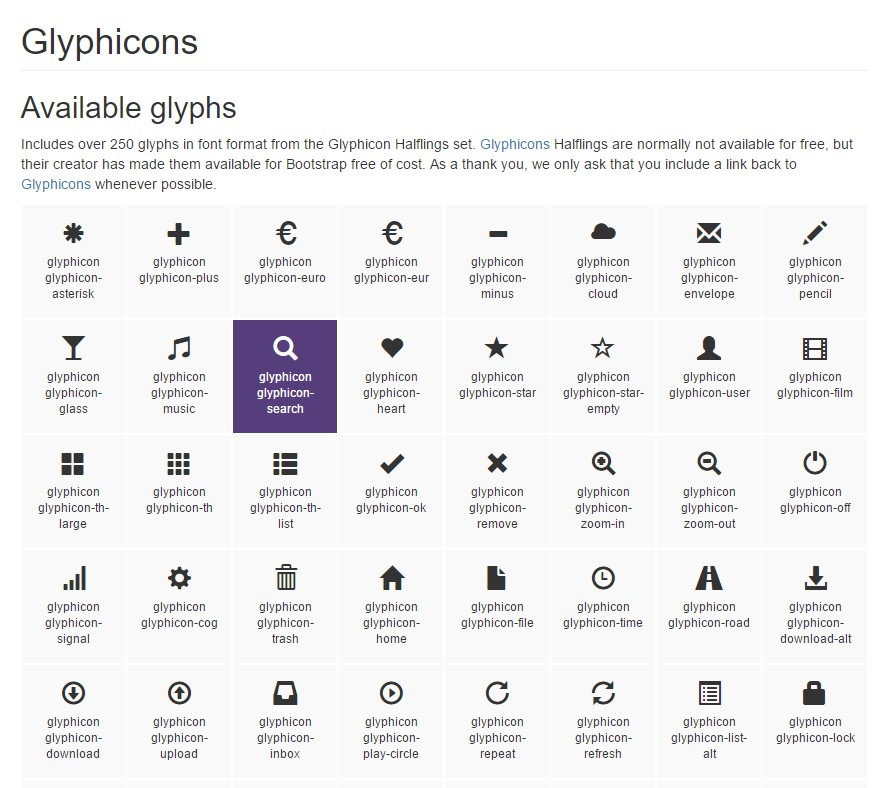 Bootstrap Icons official  documents