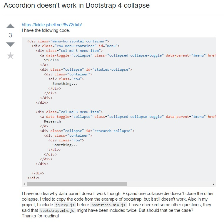 Bootstrap collapse issue