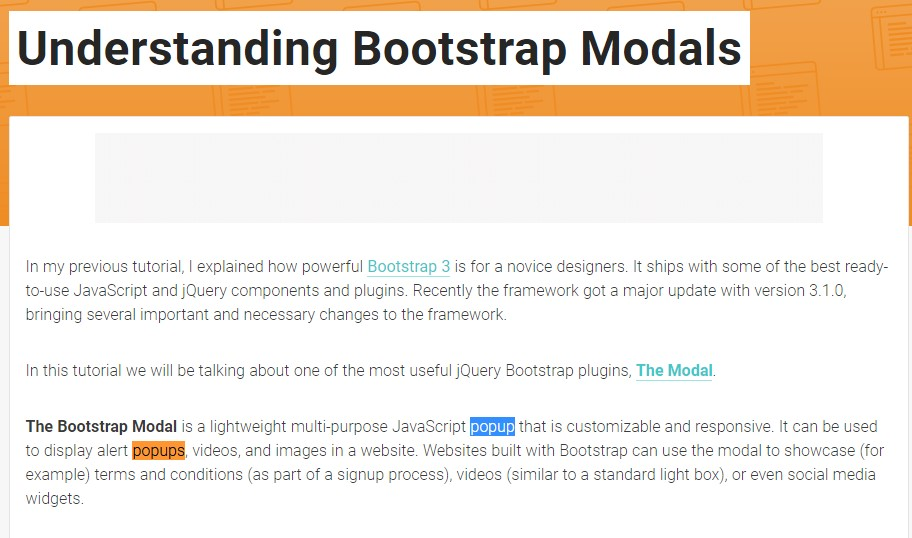 Yet another  valuable article about Bootstrap Modal Popup