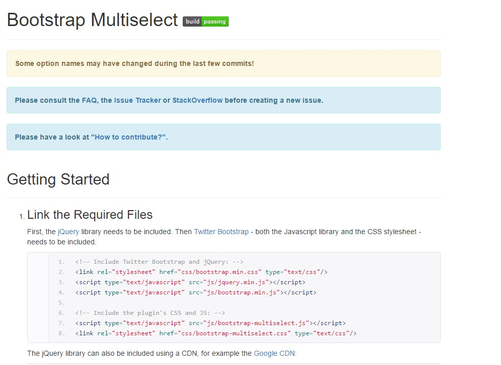 Bootstrap multiple select  information
