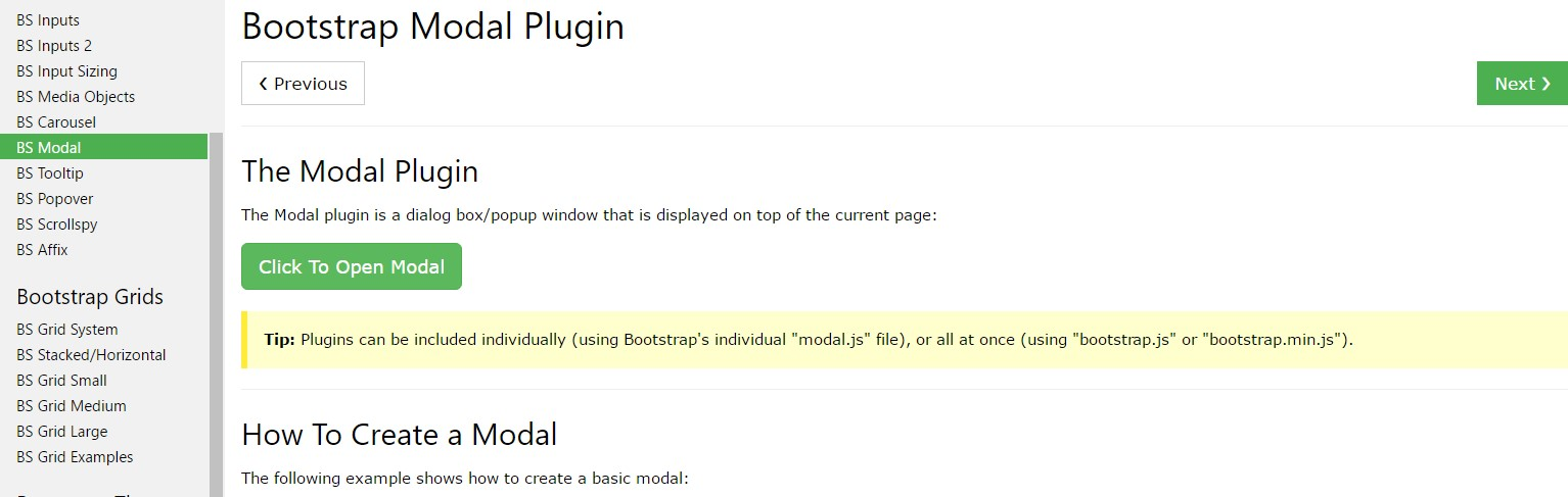 Bootstrap Modal Popup:  guide  article